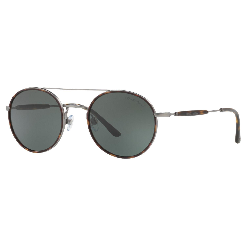 Giorgio Armani Giorgio Armani AR6056J Men's Frames of Life Round Sunglasses, Tortoise/Grey