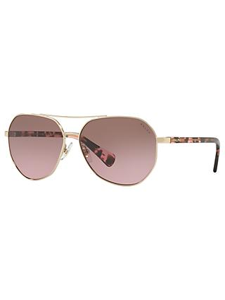 Ralph RA4123 Women's Aviator Sunglasses, Gold/Rose Gradient