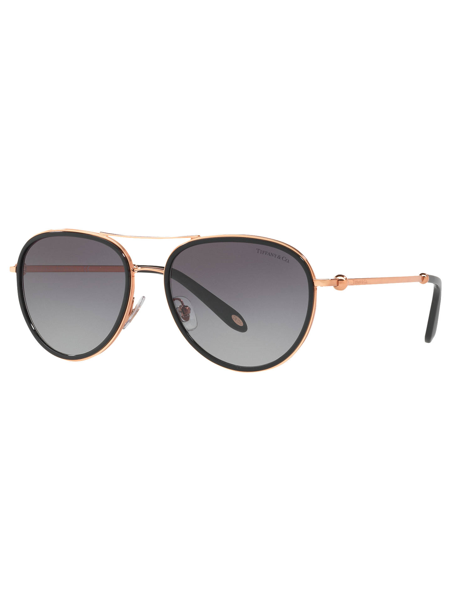0fade5f3b179 Buy Tiffany & Co TF3059 Women's Aviator Sunglasses, Rose Gold/Grey Gradient  Online at ...