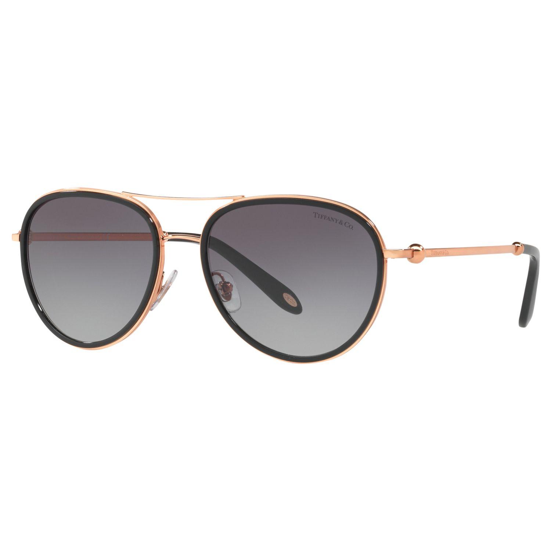 Tiffany & Co Tiffany & Co TF3059 Women's Aviator Sunglasses, Rose Gold/Grey Gradient