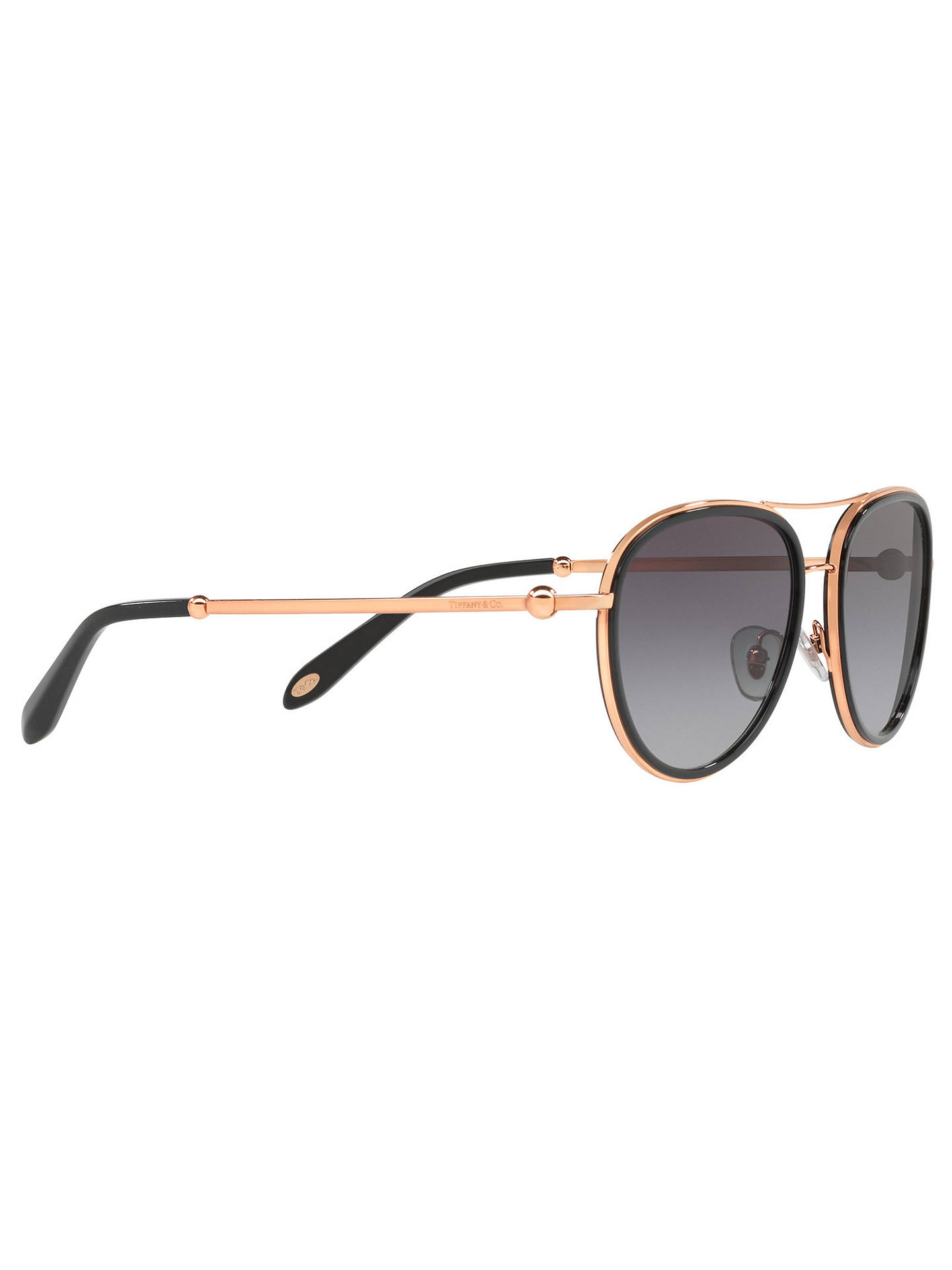 5a4d888bae42 ... Buy Tiffany & Co TF3059 Women's Aviator Sunglasses, Rose Gold/Grey  Gradient Online at