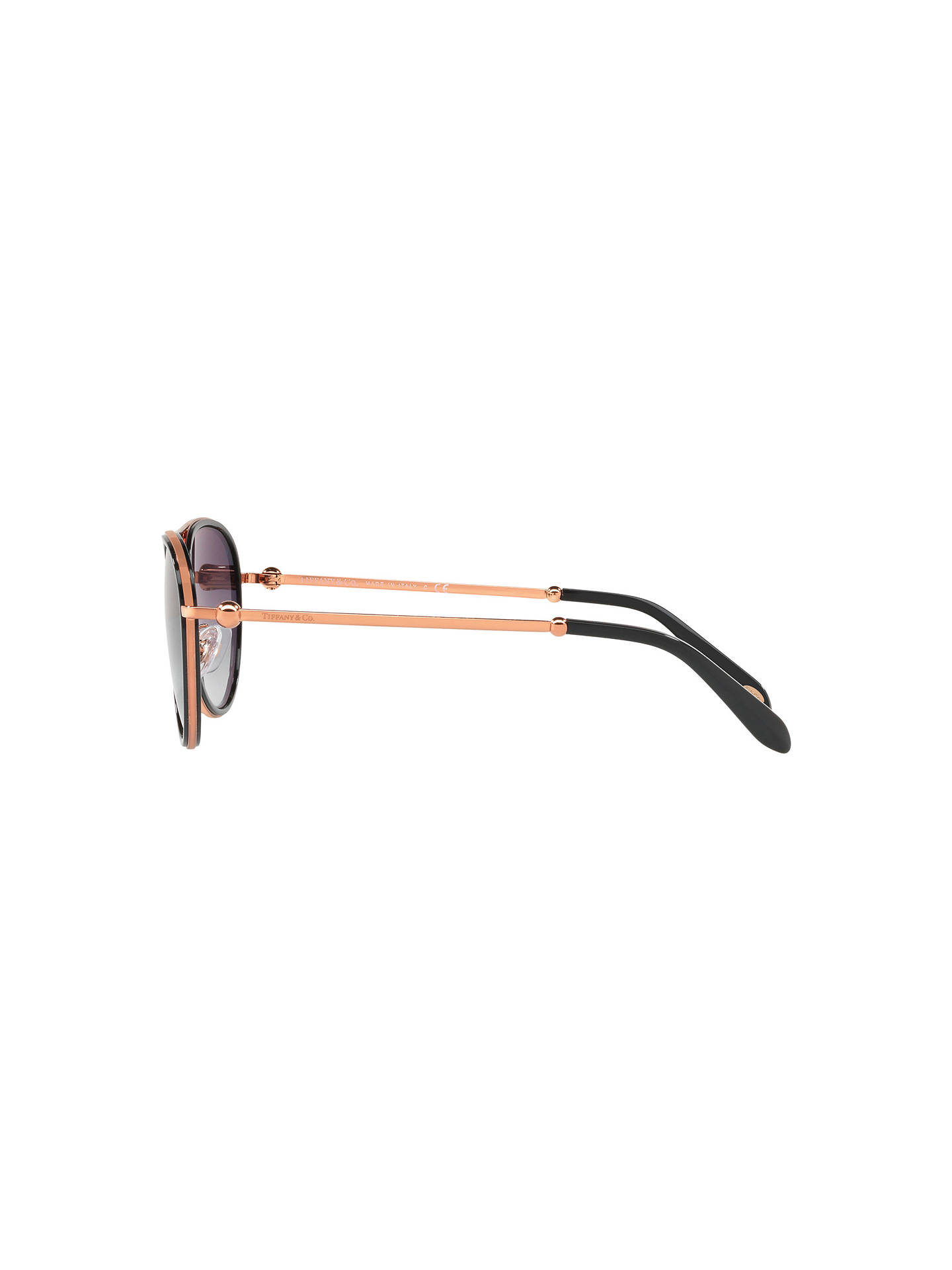 7a6a4cb7abd7 ... Buy Tiffany & Co TF3059 Women's Aviator Sunglasses, Rose Gold/Grey  Gradient Online at ...