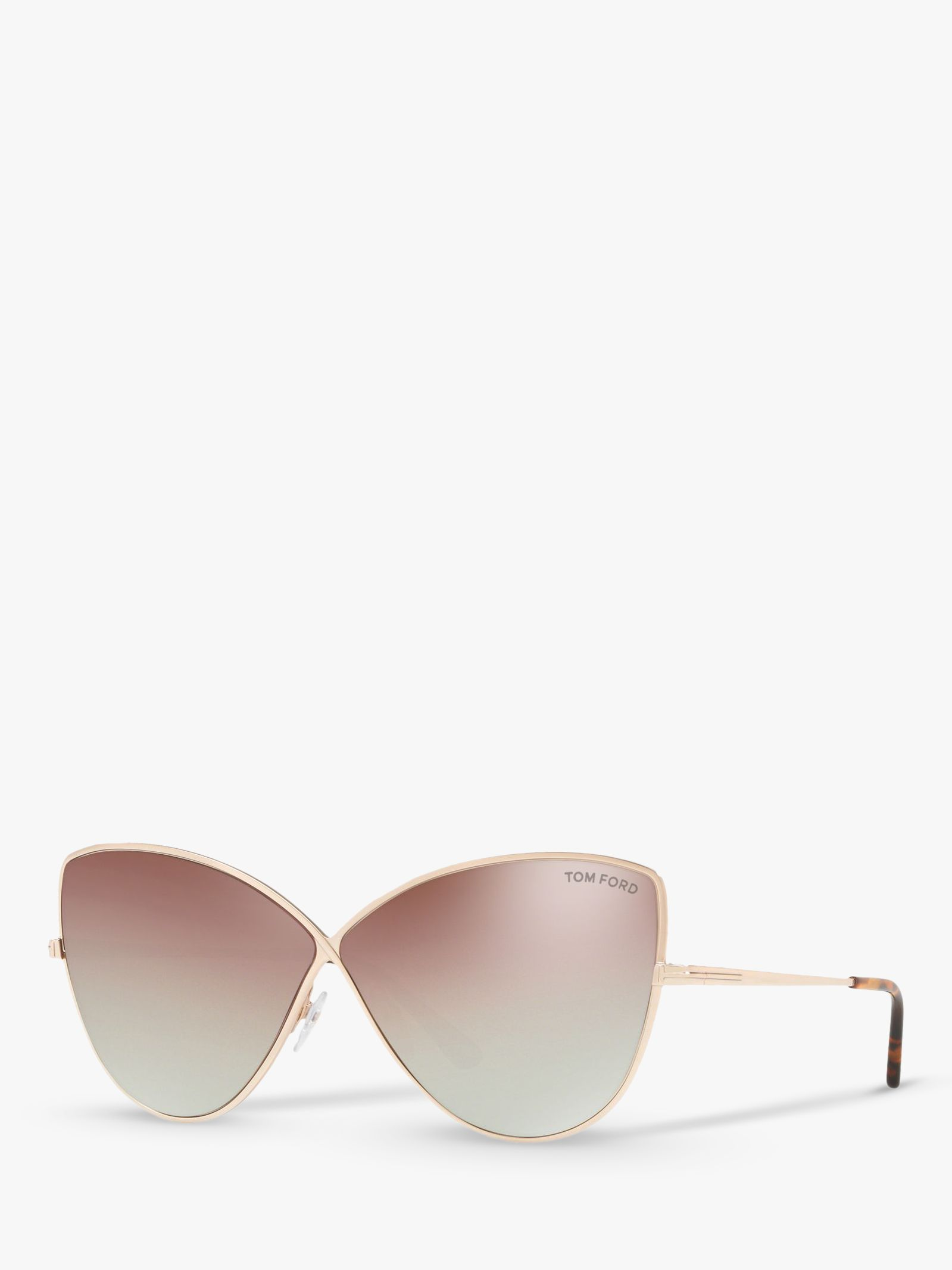 Tom Ford TOM FORD FT0569 Women's Elise-02 Cat's Eye Sunglasses, Rose Gold/Mirror Pink