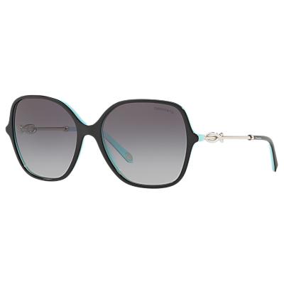 Tiffany & Co TF4145B Square Sunglasses, Black/Grey Gradient