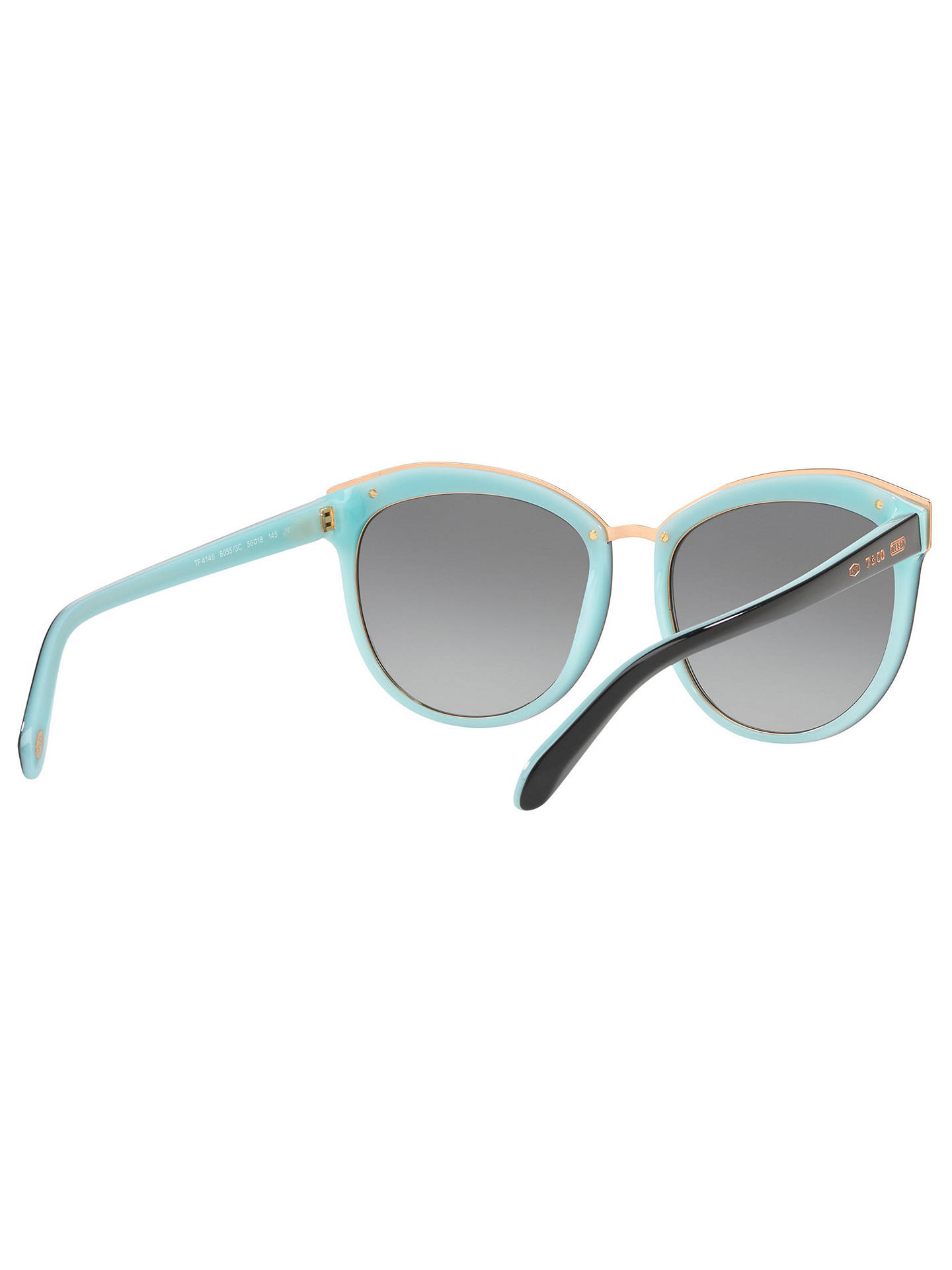 BuyTiffany & Co TF4146 Women's Oval Sunglasses, Black/Grey Gradient Online at johnlewis.com