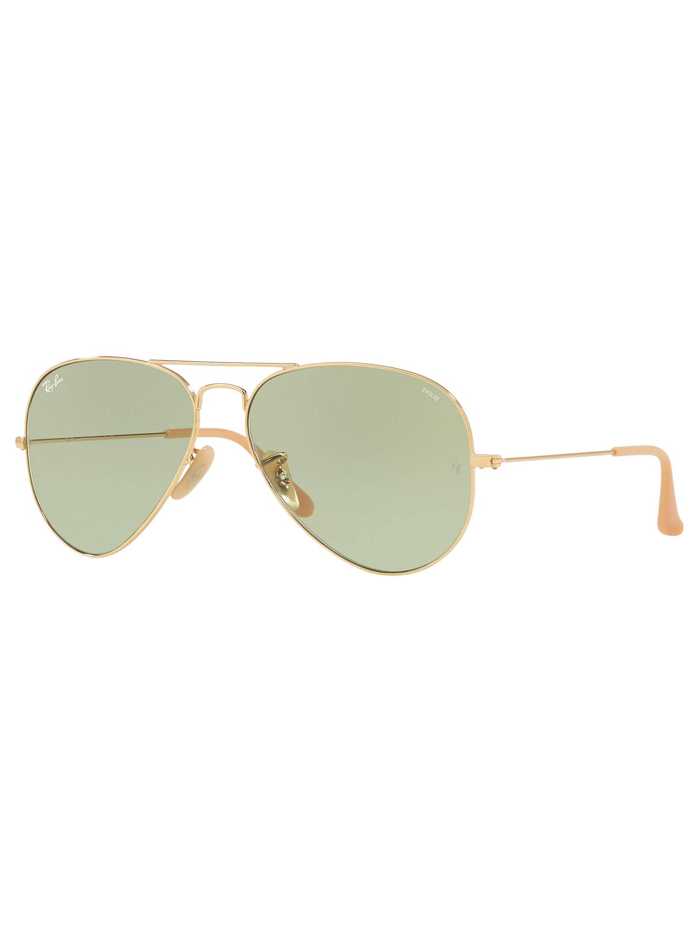 092596193 Buy Ray-Ban RB3025 Men's Evolve Original Aviator Sunglasses, Gold/Green  Online at ...
