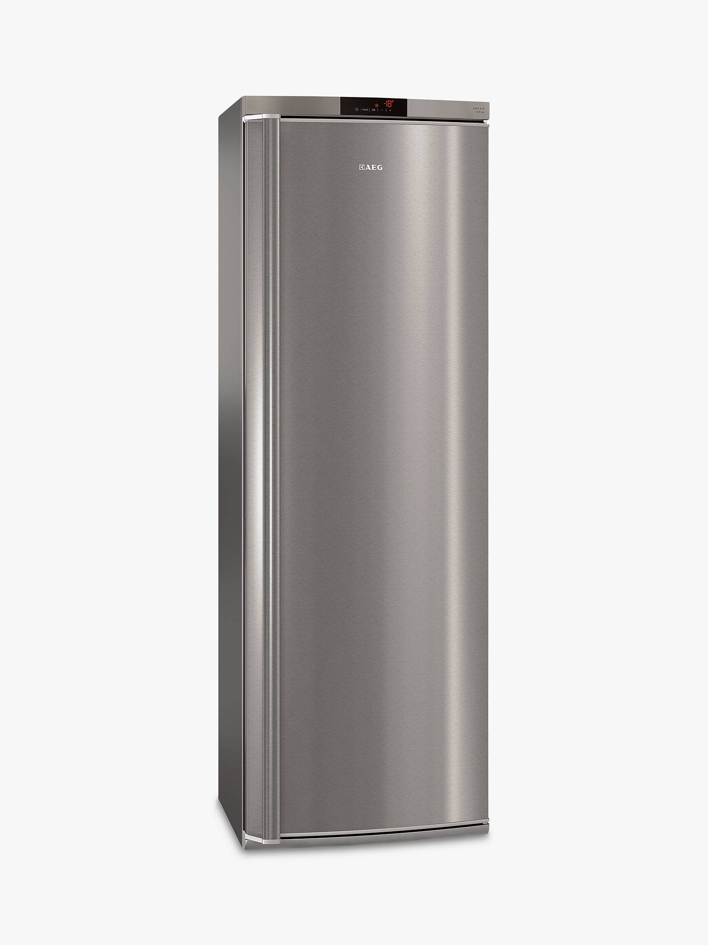 BuyAEG AGE62526NX Tall Freezer, A++ Energy Rating, 60cm Wide, Stainless Steel Online at johnlewis.com