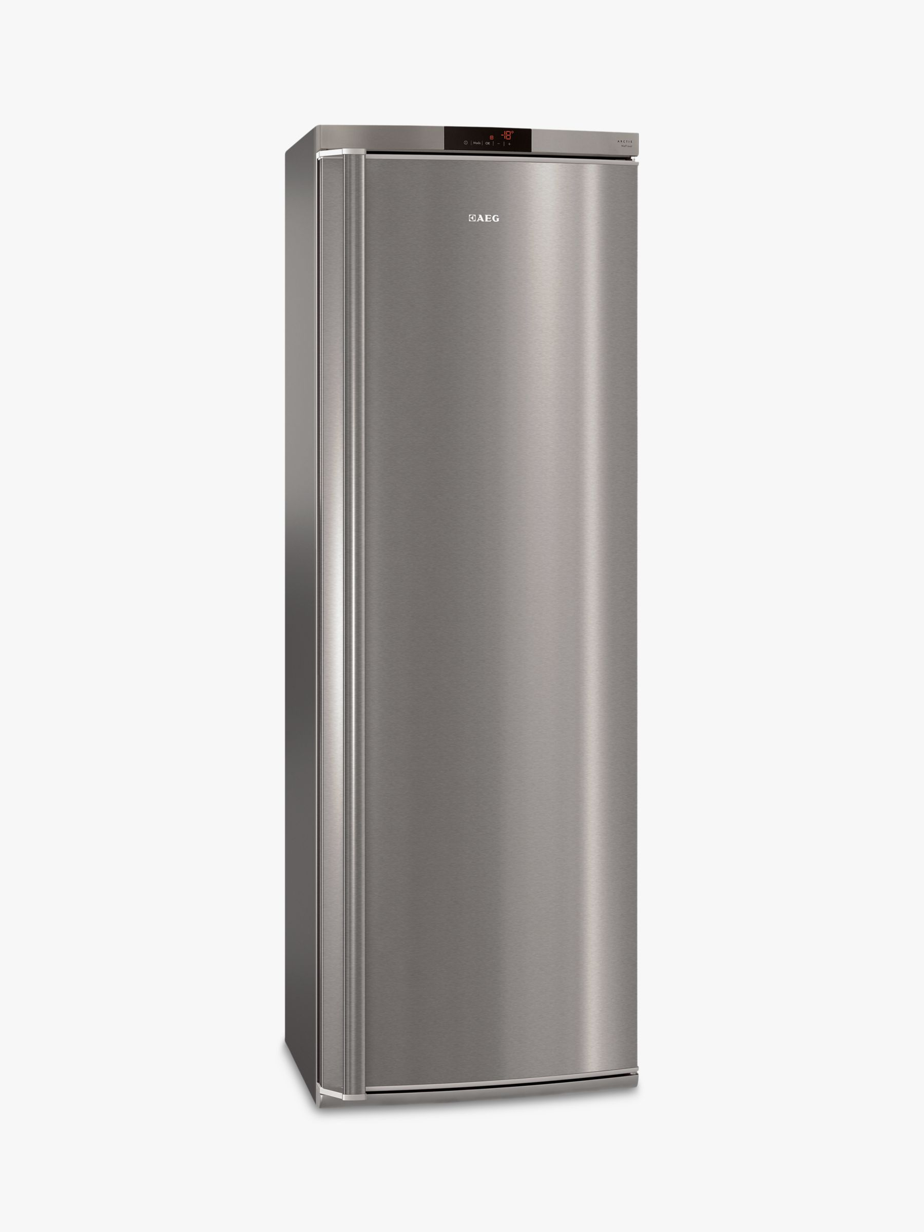 AEG AEG AGE62526NX Tall Freezer, A++ Energy Rating, 60cm Wide, Stainless Steel
