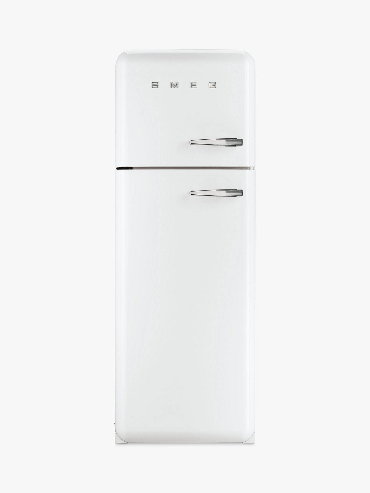 Buy Smeg FAB30LF Fridge Freezer, A++ Energy Rating, Left-Hand Hinge, 60cm Wide, White Online at johnlewis.com