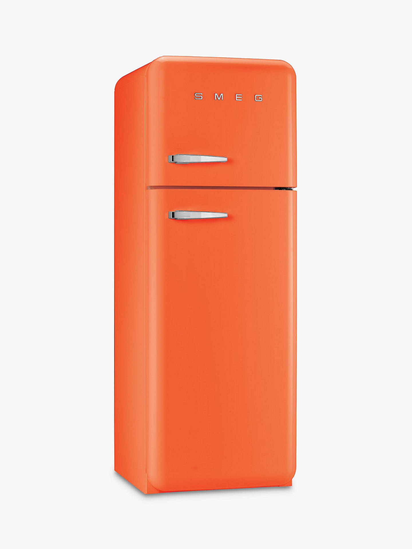 BuySmeg FAB30RF Fridge Freezer, A++ Energy Rating, 60cm Wide, Right-Hand Hinge, Orange Online at johnlewis.com