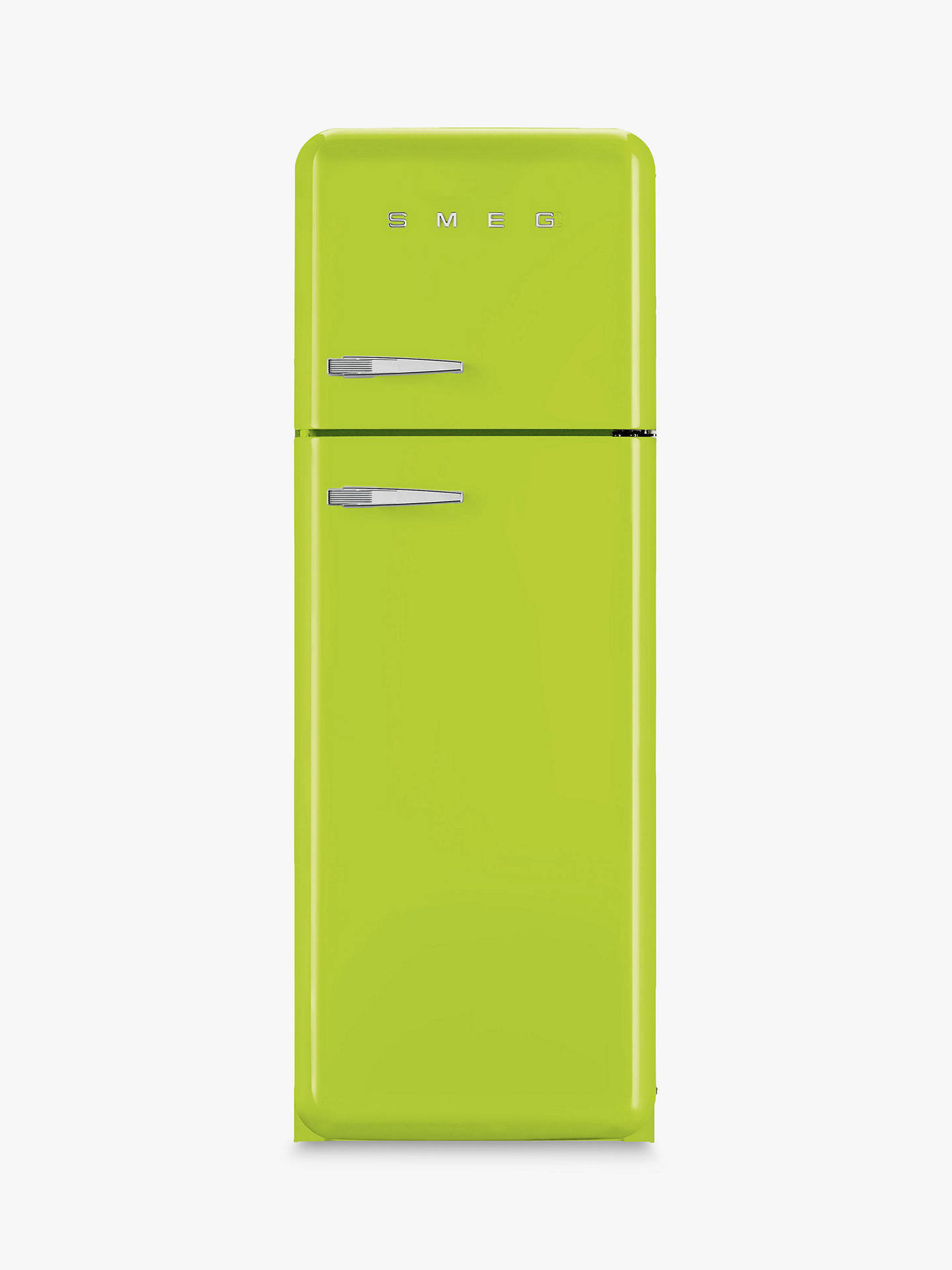 BuySmeg FAB30RF Fridge Freezer, A++ Energy Rating, 60cm Wide, Right-Hand Hinge, Lime Green Online at johnlewis.com