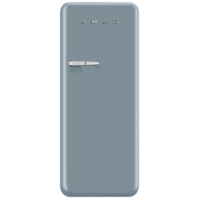 Smeg FAB28Q Fridge with Freezer Compartment, A++ Energy Rating, 60cm Wide, Right-Hand Hinge, Silver