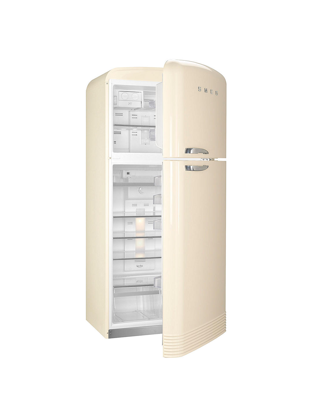 Buy Smeg FAB50R Freestanding 70/30 Fridge Freezer, A++ Energy Rating, Right-Hand Hinge, 80cm Wide, Cream Online at johnlewis.com