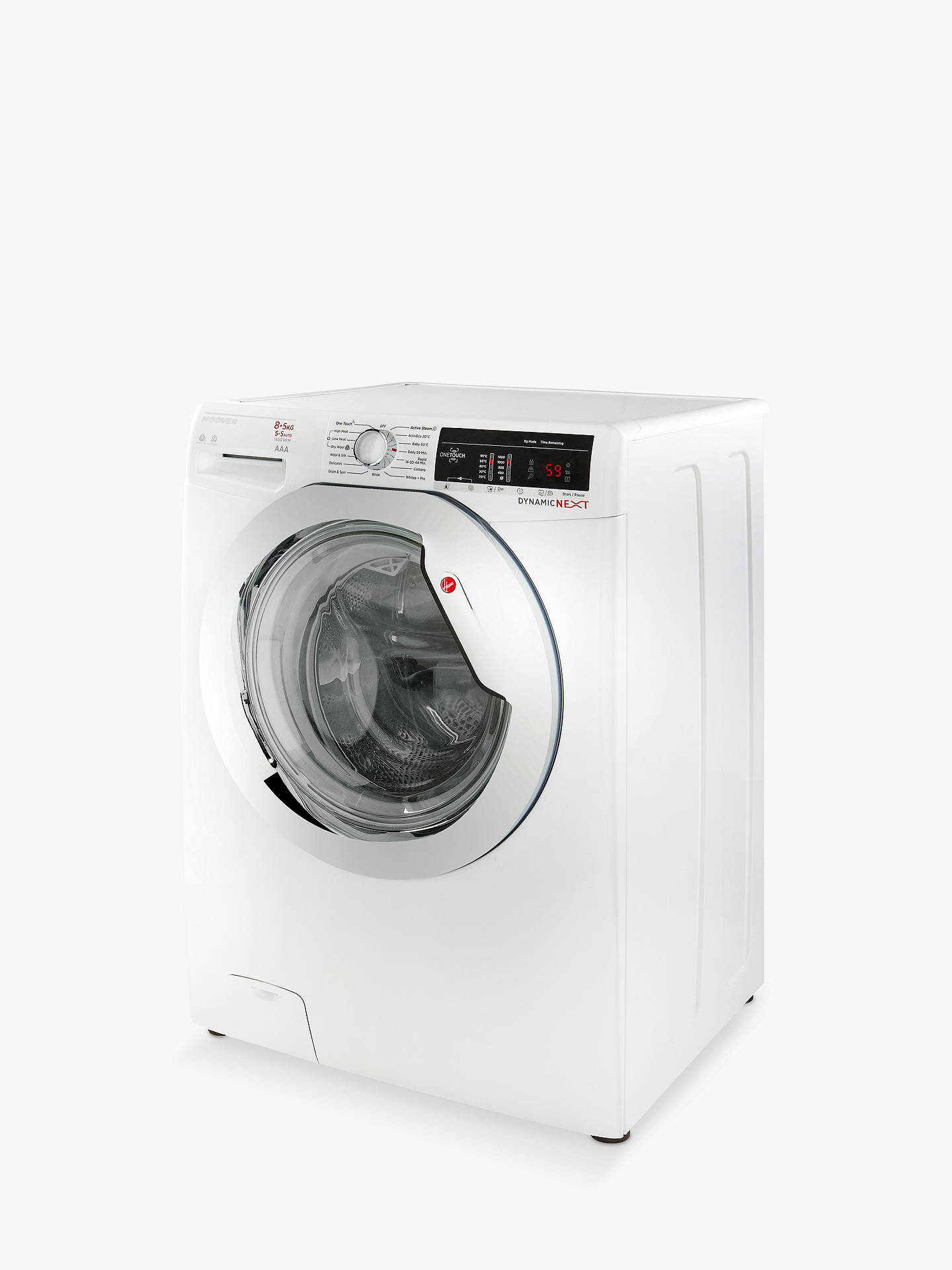 Buy Hoover Dynamic Next Advanced WDXOA 485C Freestanding Washer Dryer with NFC, 8kg Wash/5kg Dry Load, A Energy Rating, 1400rpm Spin, White Online at johnlewis.com