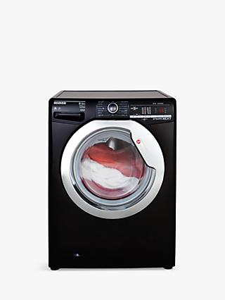 Hoover Dynamic Next Advanced WDXOA 485ACB Freestanding Washer Dryer with NFC, 8kg Wash/5kg Dry Load, A Energy Rating, 1400rpm Spin, Black/Chrome