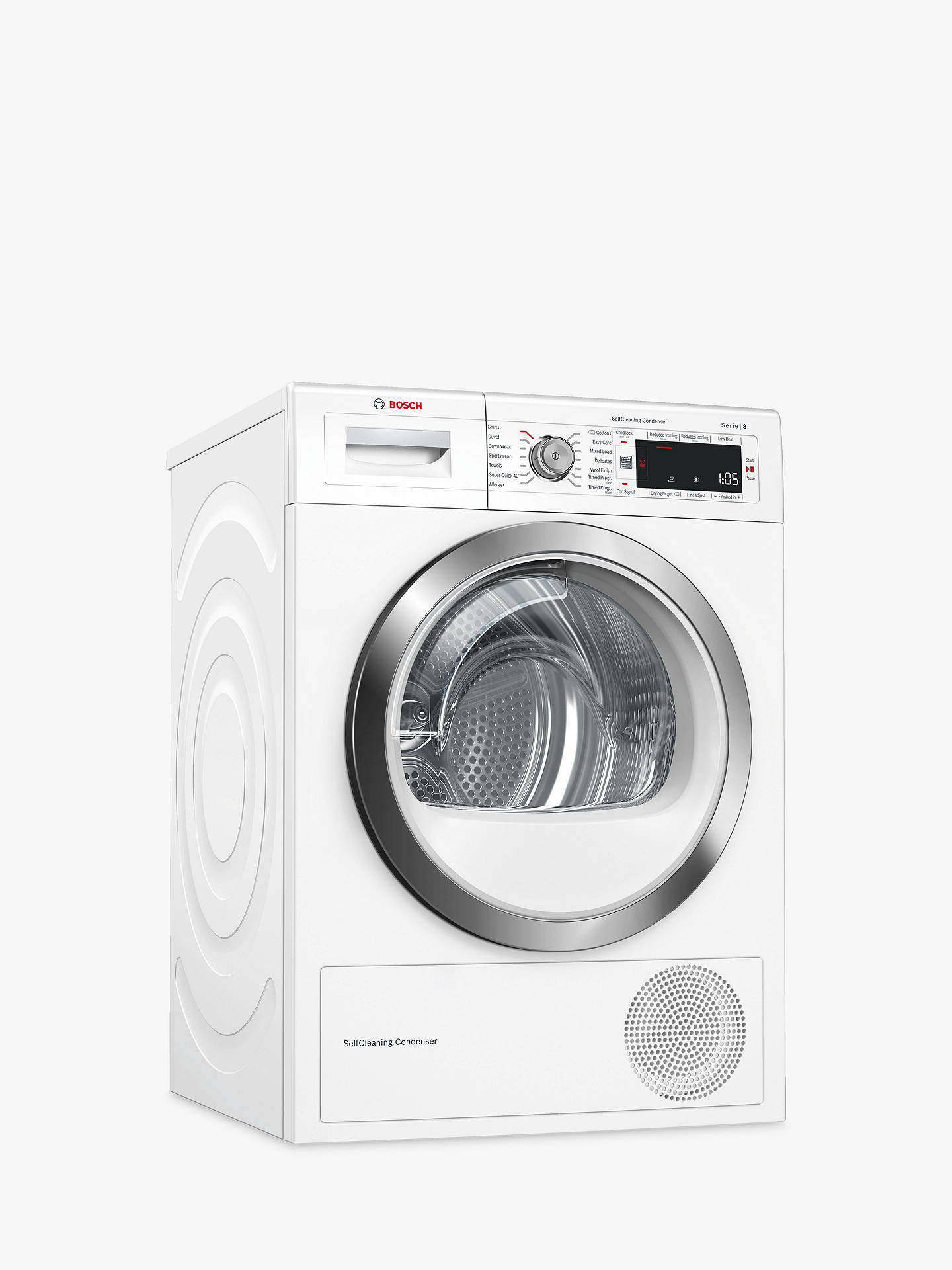 Buy Bosch WTW87561GB Heat Pump Tumble Dryer, 9kg Load, A++ Energy Rating, White Online at johnlewis.com