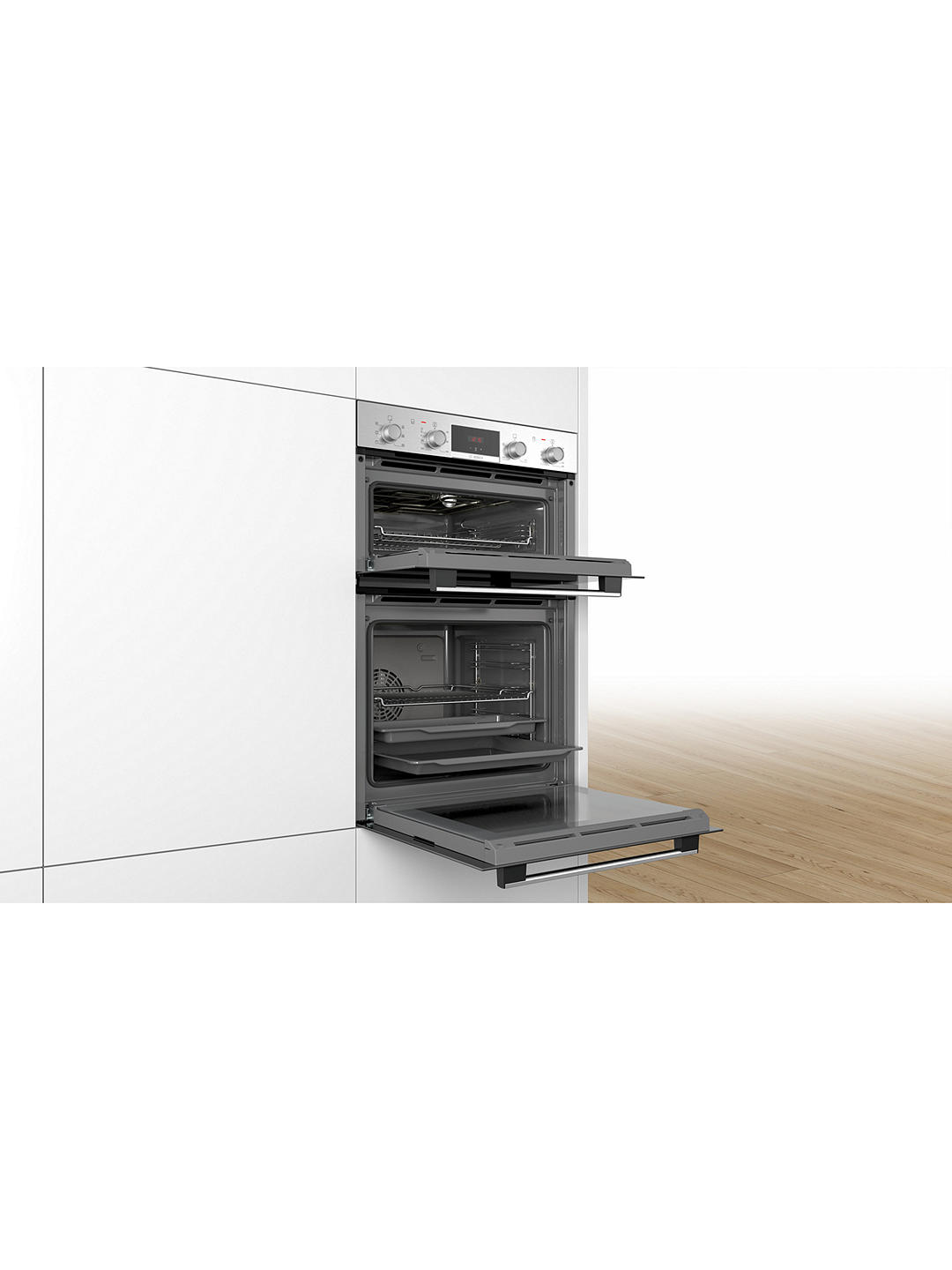 Buy Bosch MBS133BR0B Built-In Double Oven, Stainless Steel Online at johnlewis.com