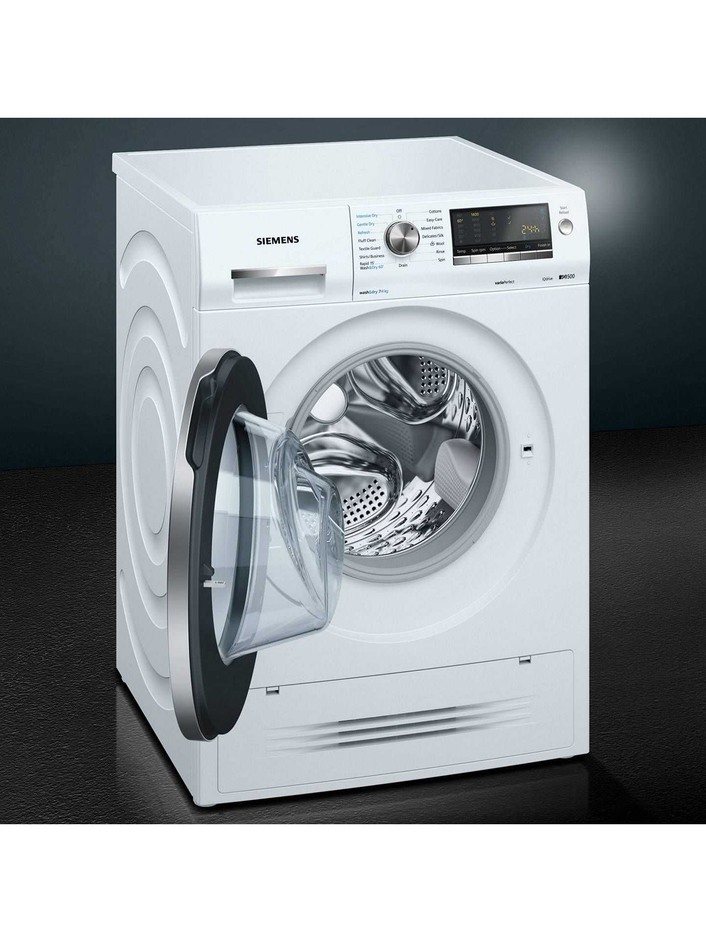 BuySiemens WD14H422GB Washer Dryer, 7kgWash/4kg Dry Load, A Energy Rating, 1400rpm Spin, White Online at johnlewis.com