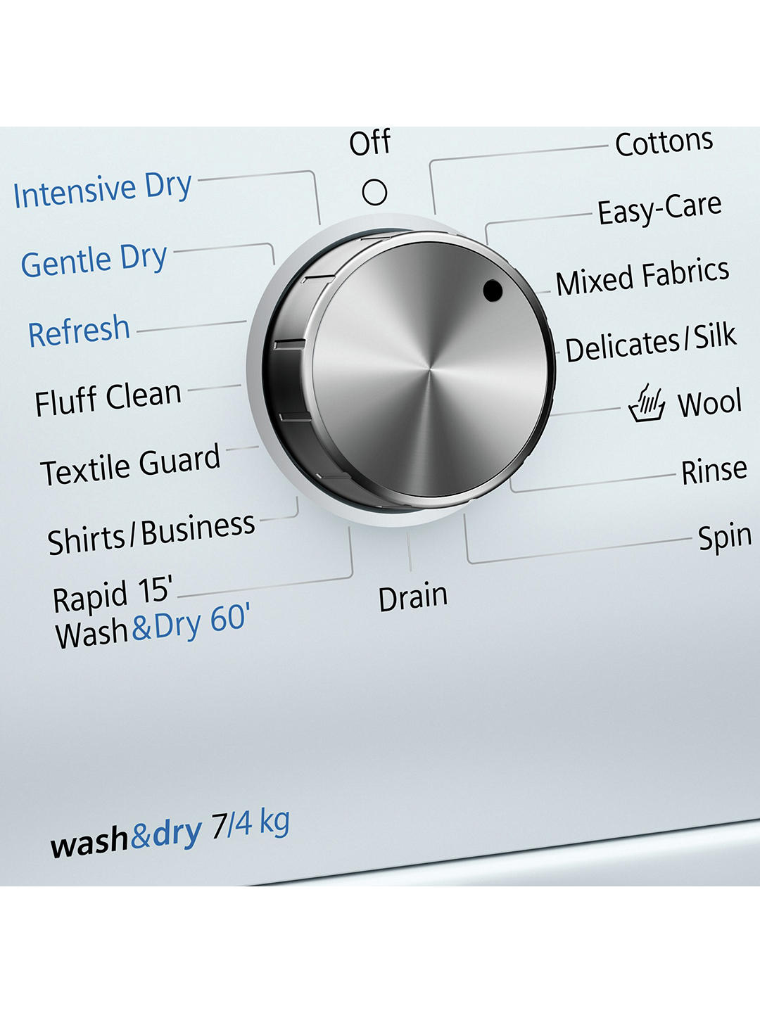 Buy Siemens WD14H422GB Washer Dryer, 7kgWash/4kg Dry Load, A Energy Rating, 1400rpm Spin, White Online at johnlewis.com