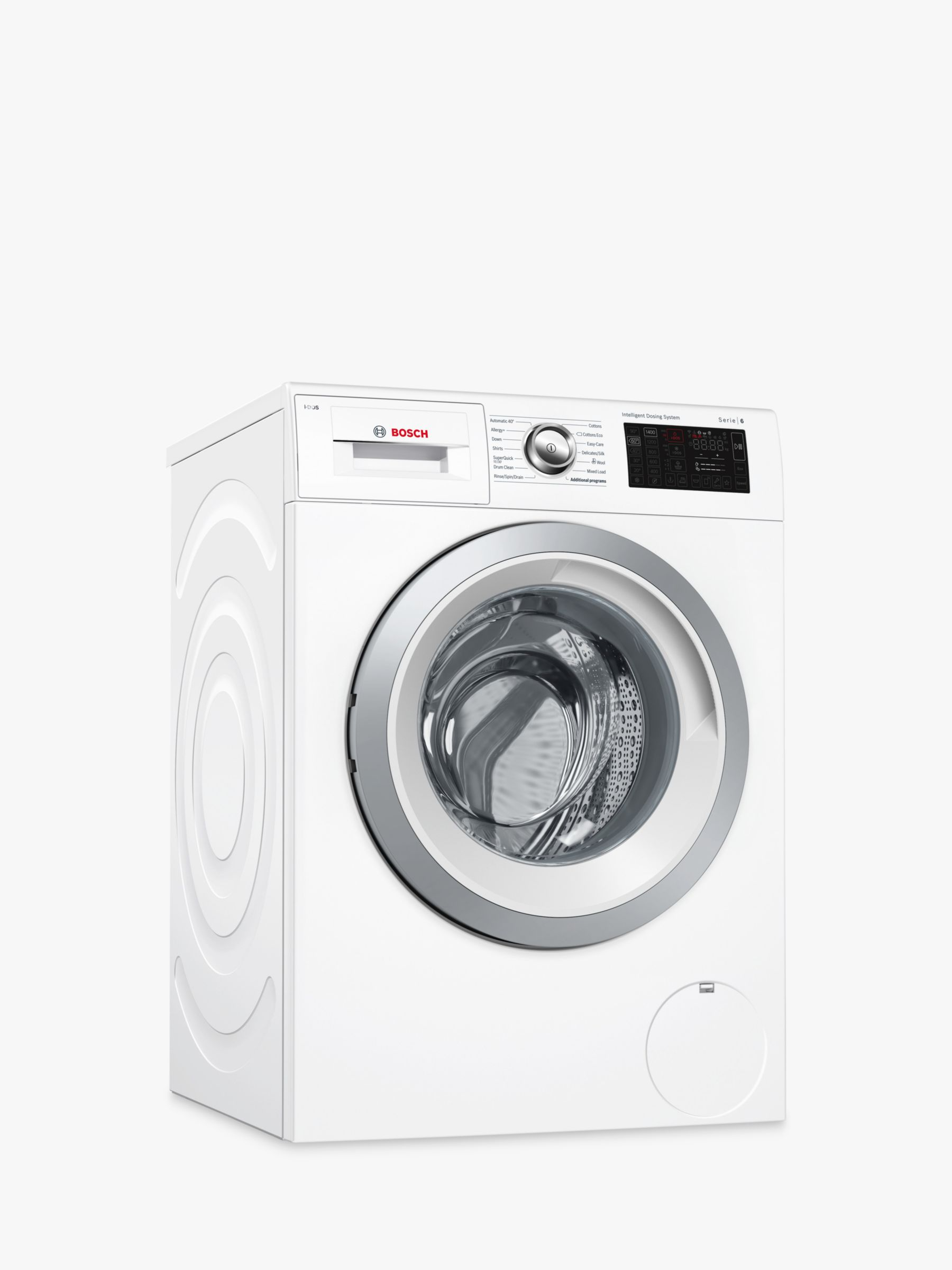 Bosch Bosch WAT286H0GB Freestanding Washing Machine, 9kg Load, A+++ Energy Rating, 1400rpm Spin, White