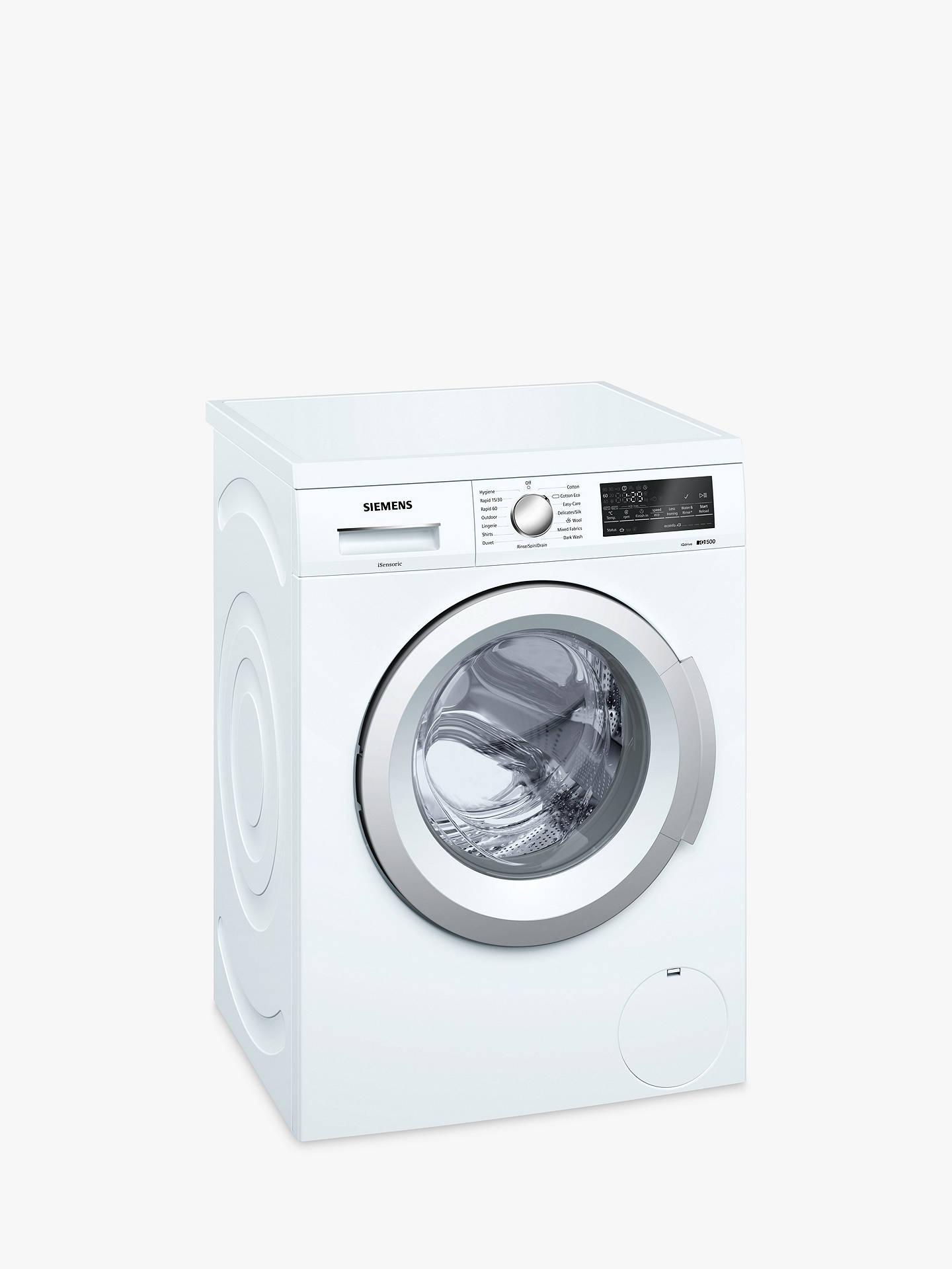 Siemens Wu14q420gb Freestanding Washing Machine 8kg Load A Wiring Diagram Buysiemens Energy Rating 1400rpm Spin