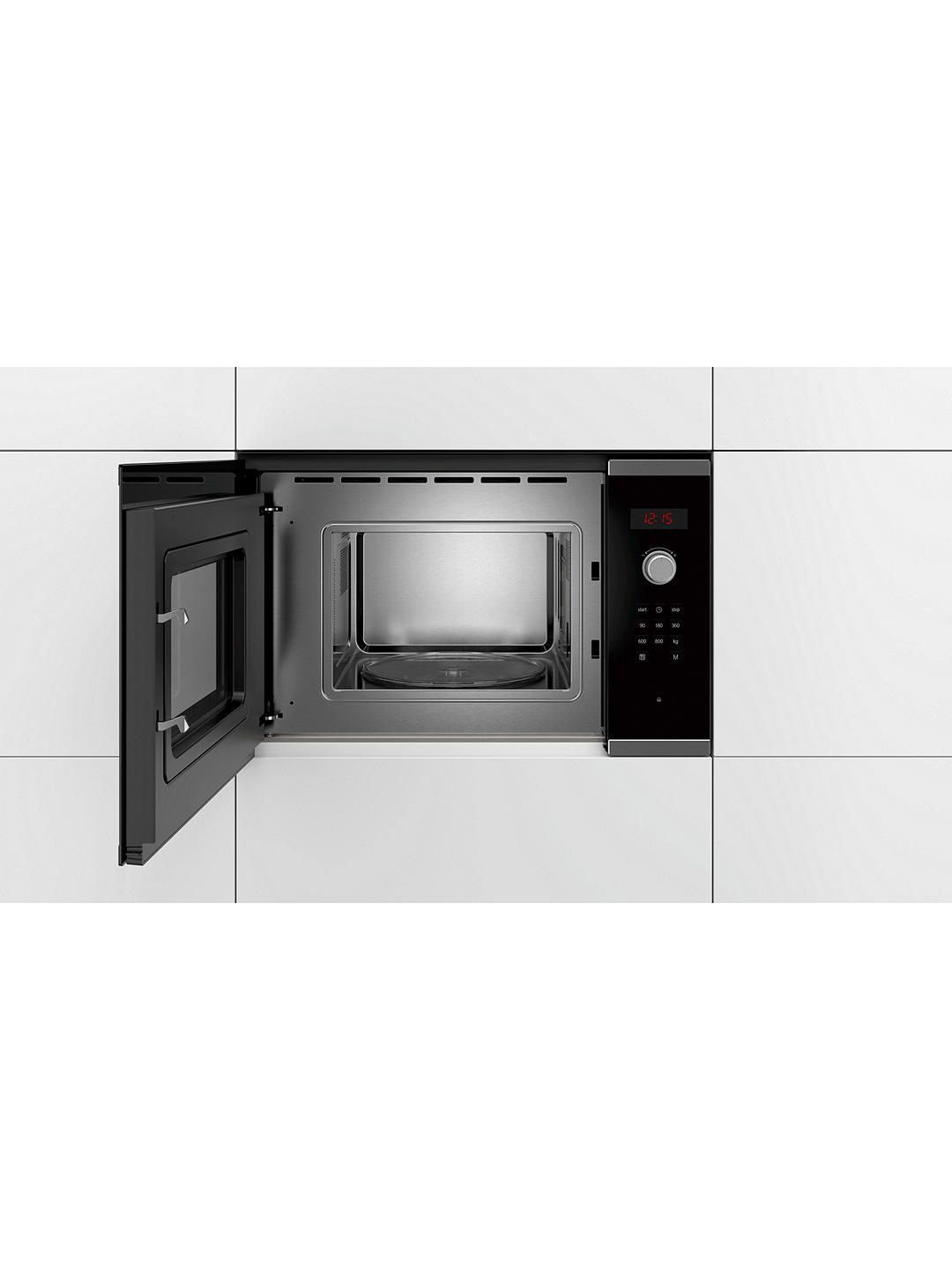 Buy Bosch Serie 4 BFL523MS0B Built-In Microwave, Stainless Steel Online at johnlewis.com