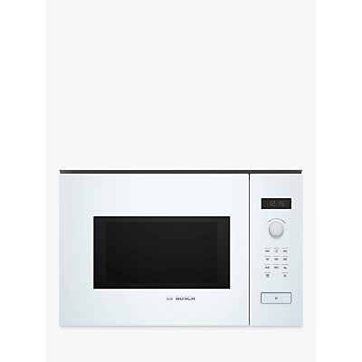 Image of Bosch BFL553MW0B Serie 4 900W 25L Built-in Microwave Oven - White