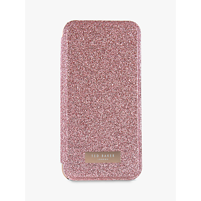 Image of Ted Baker GLITSIE Mirror Folio Case for iPhone 6/7 and 8, Rose Gold