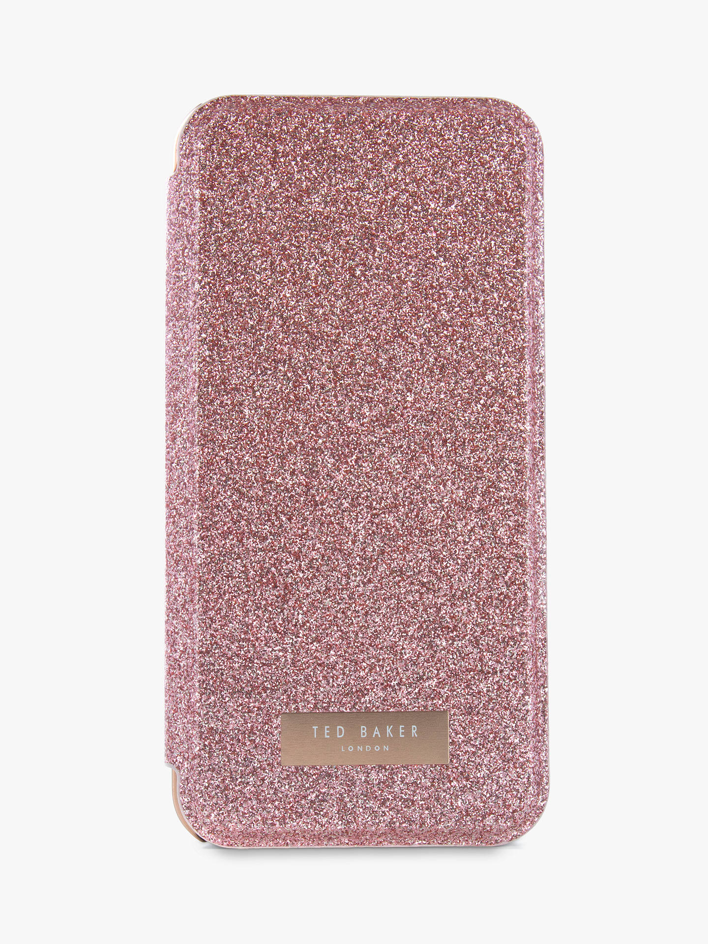official photos b8b3d b6128 Ted Baker GLITSIE Mirror Folio Case for iPhone 6/7 and 8, Rose Gold