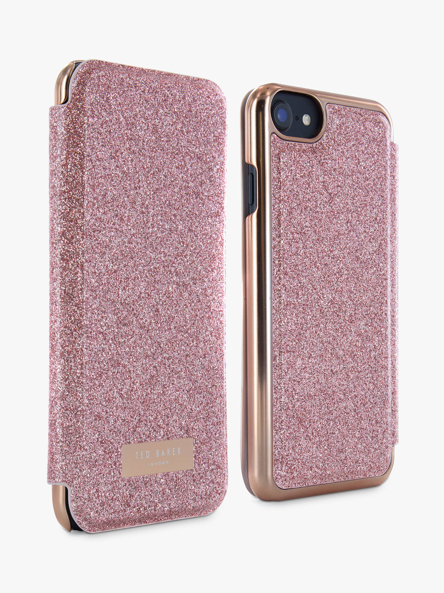 official photos 31987 ca834 Ted Baker GLITSIE Mirror Folio Case for iPhone 6/7 and 8, Rose Gold