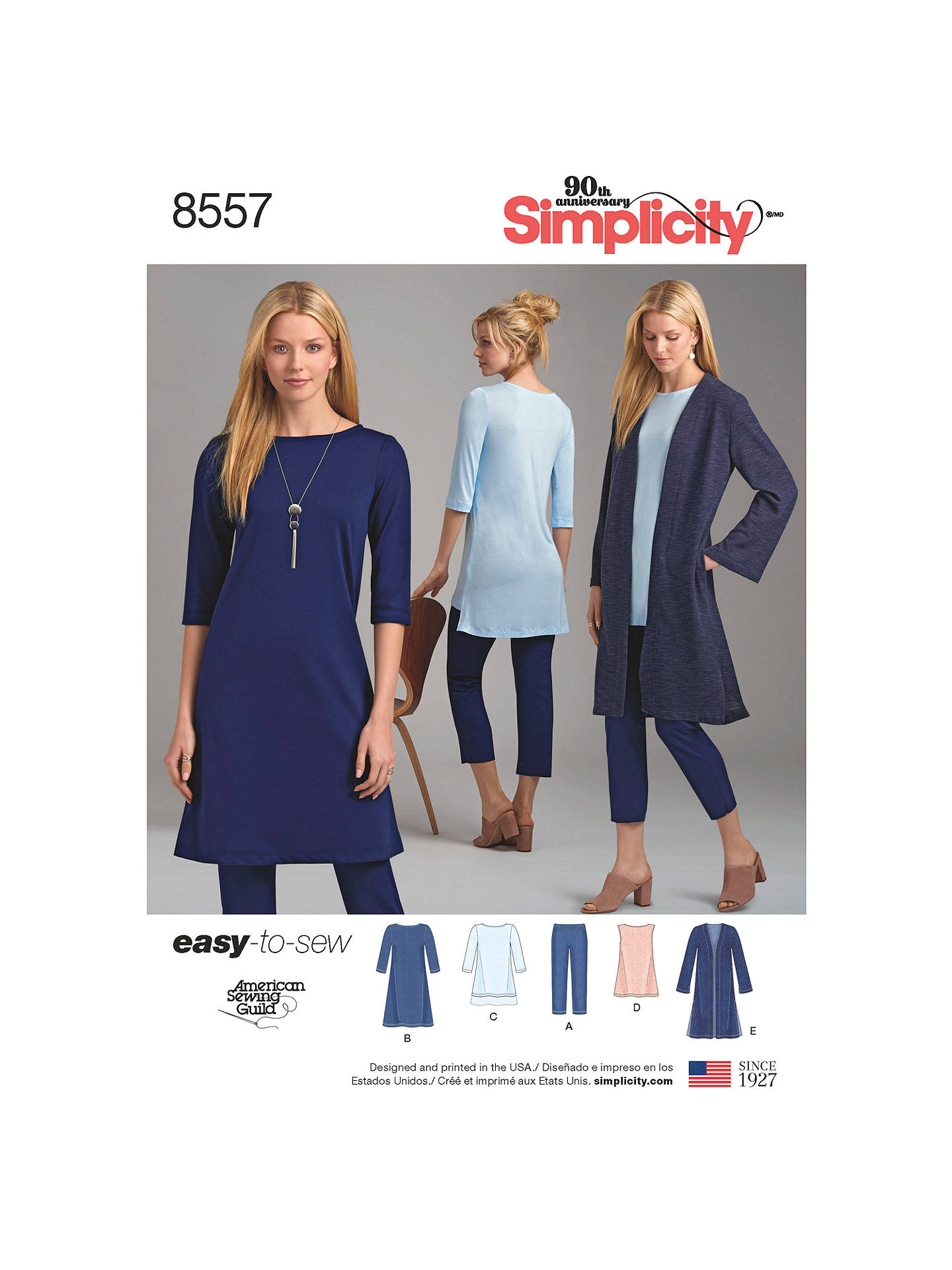 Simplicity Women's Easy To Sew Wardrobe Essentials Sewing Pattern, 8557