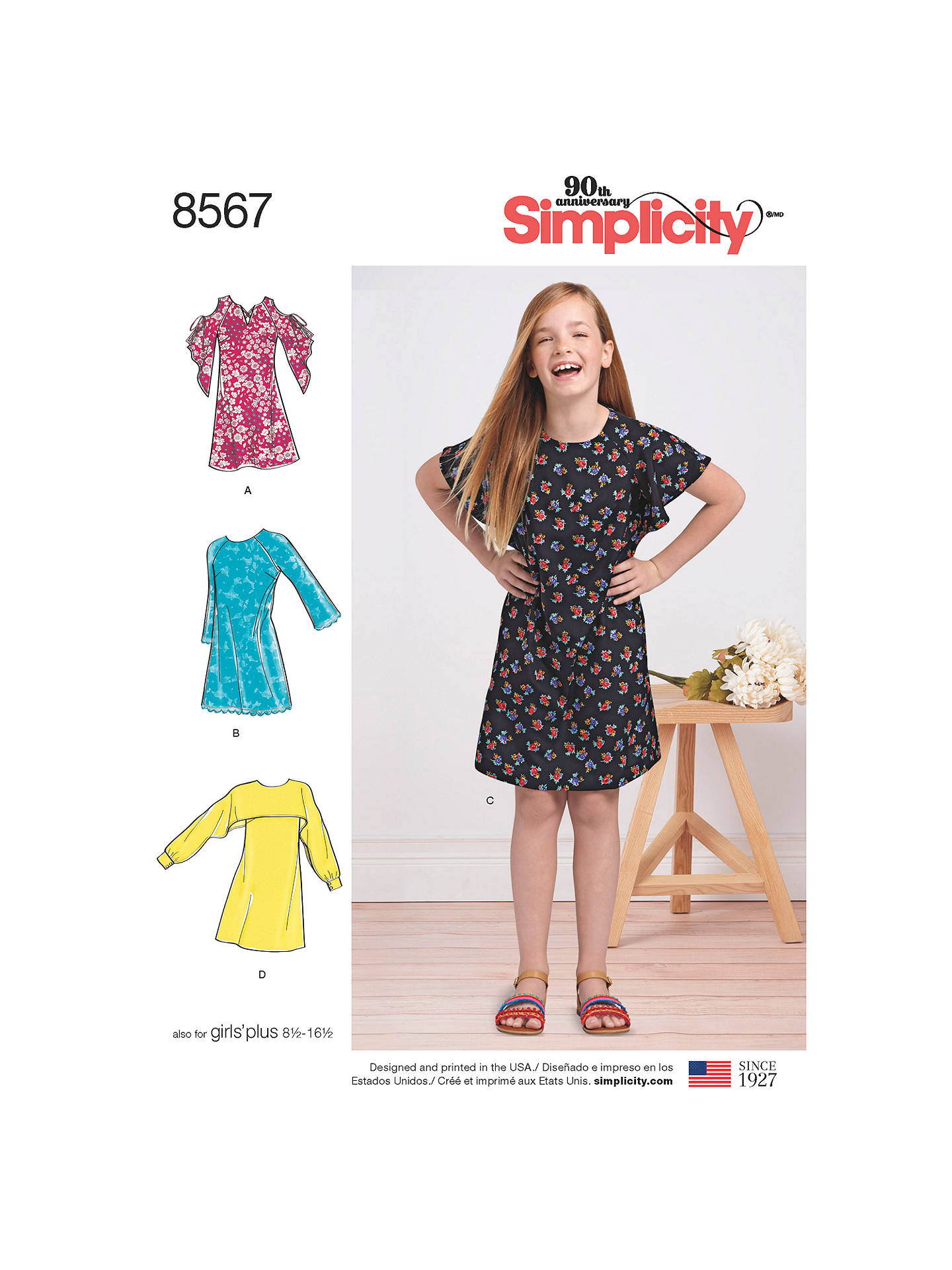 0aa5c72158 BuySimplicity Children s Dresses Sewing Pattern