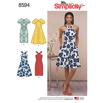 Image of Simplicity Women's Dress Sewing Pattern, 8594