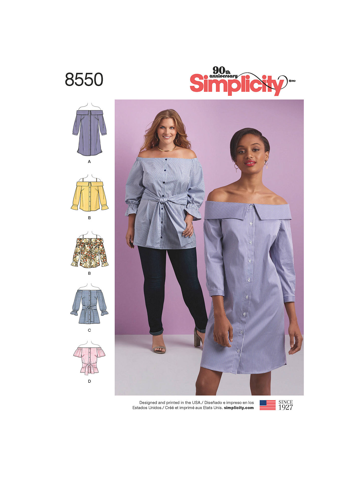 c9abc48a9839d2 Buy Simplicity Women's Cold Shoulder Shirt And Dress Sewing Pattern, 8550,  BB Online at ...