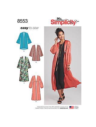 c2102aefa0a Simplicity Women s Easy Sew Kimono Sewing Pattern