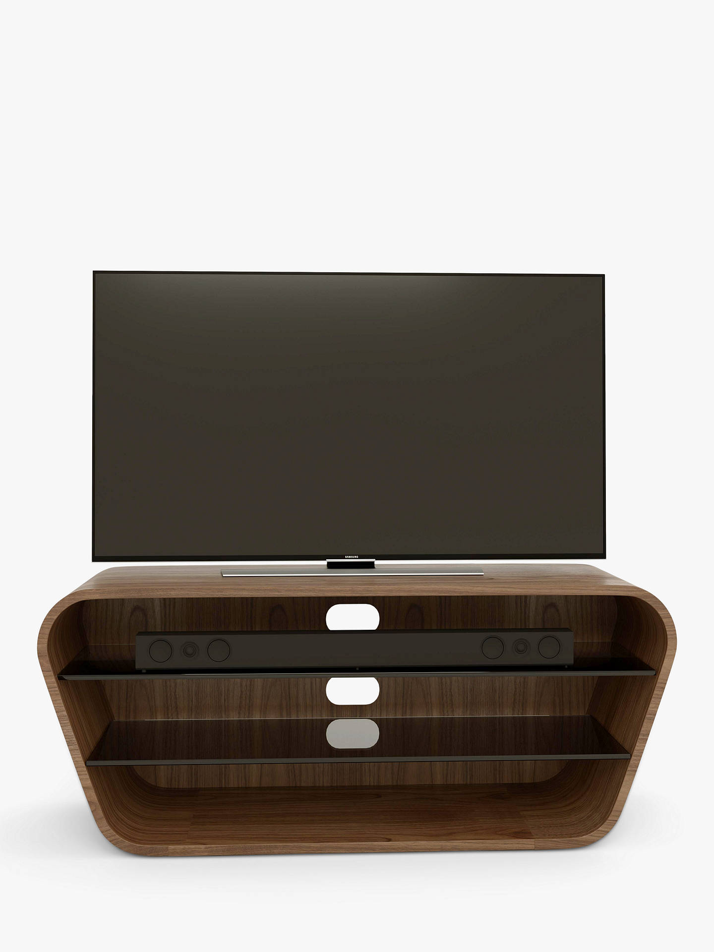 "Buy Tom Schneider Swish 1200 TV Stand for TVs up to 50"", Natural Walnut Online at johnlewis.com"