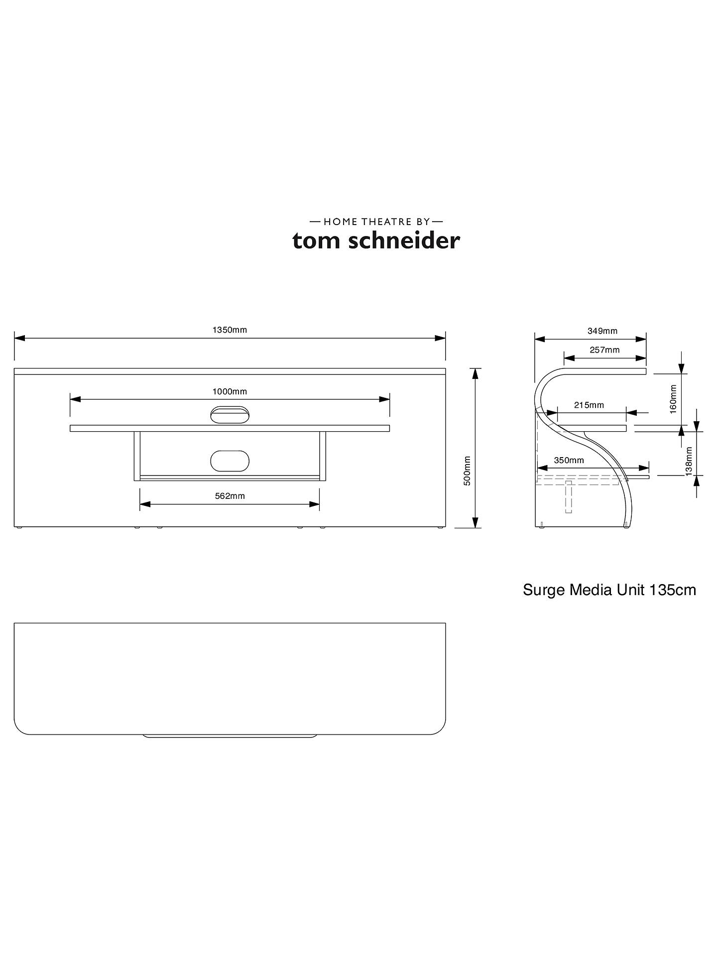 "Buy Tom Schneider Surge 1350 TV Stand for TVs up to 60"", Natural Walnut Online at johnlewis.com"