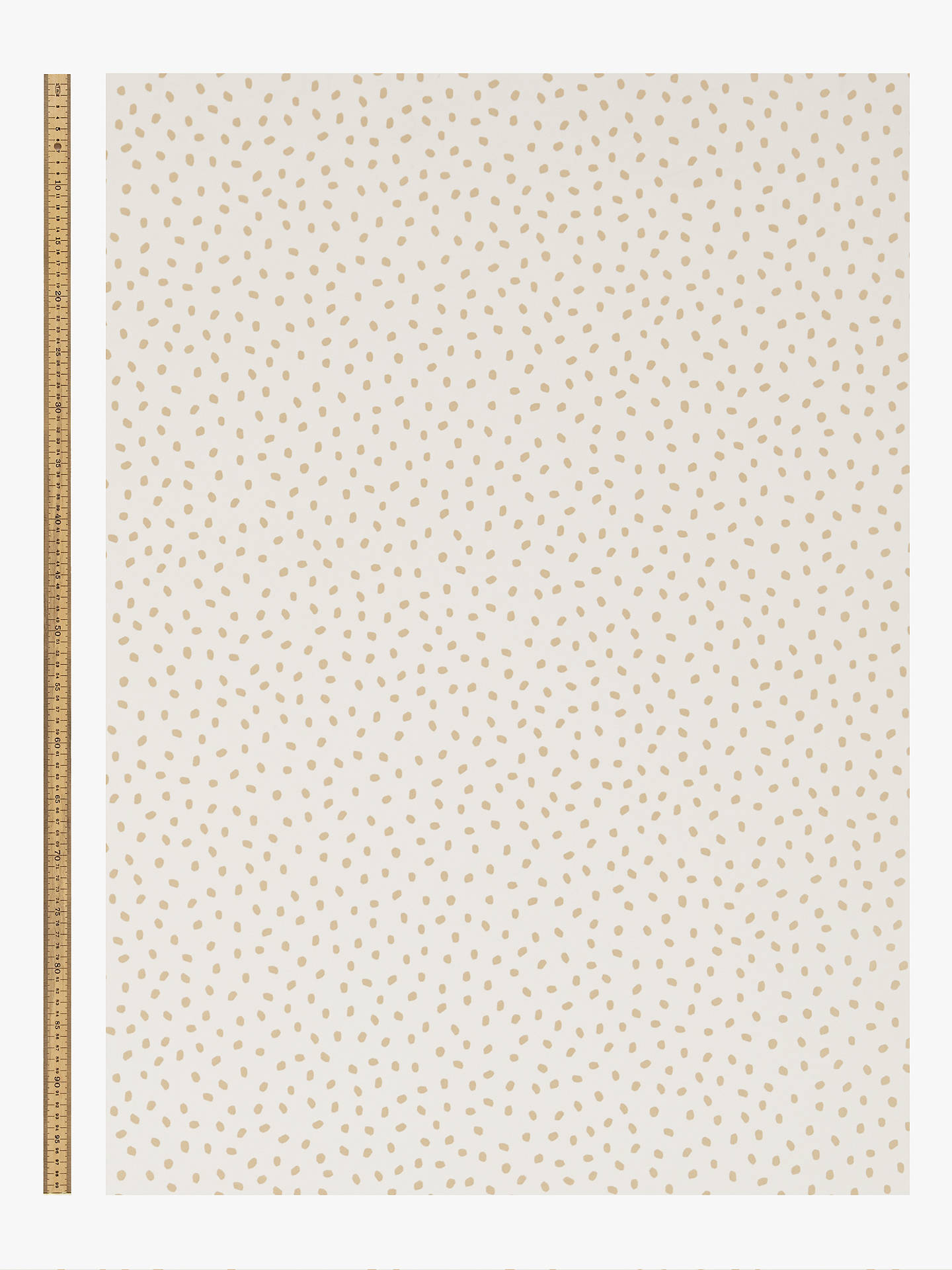 Buy House by John Lewis Spot Wallpaper, Gold Online at johnlewis.com