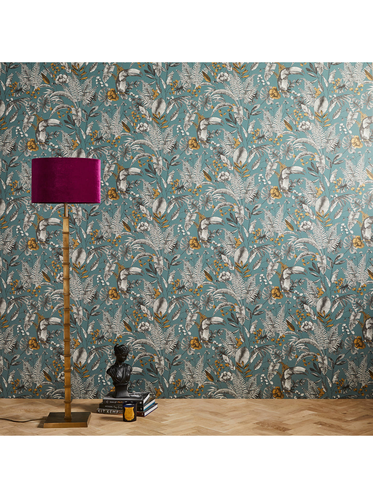 Buy John Lewis & Partners Ipanema Heritage Paste the Wall Wallpaper, Blue Online at johnlewis.com