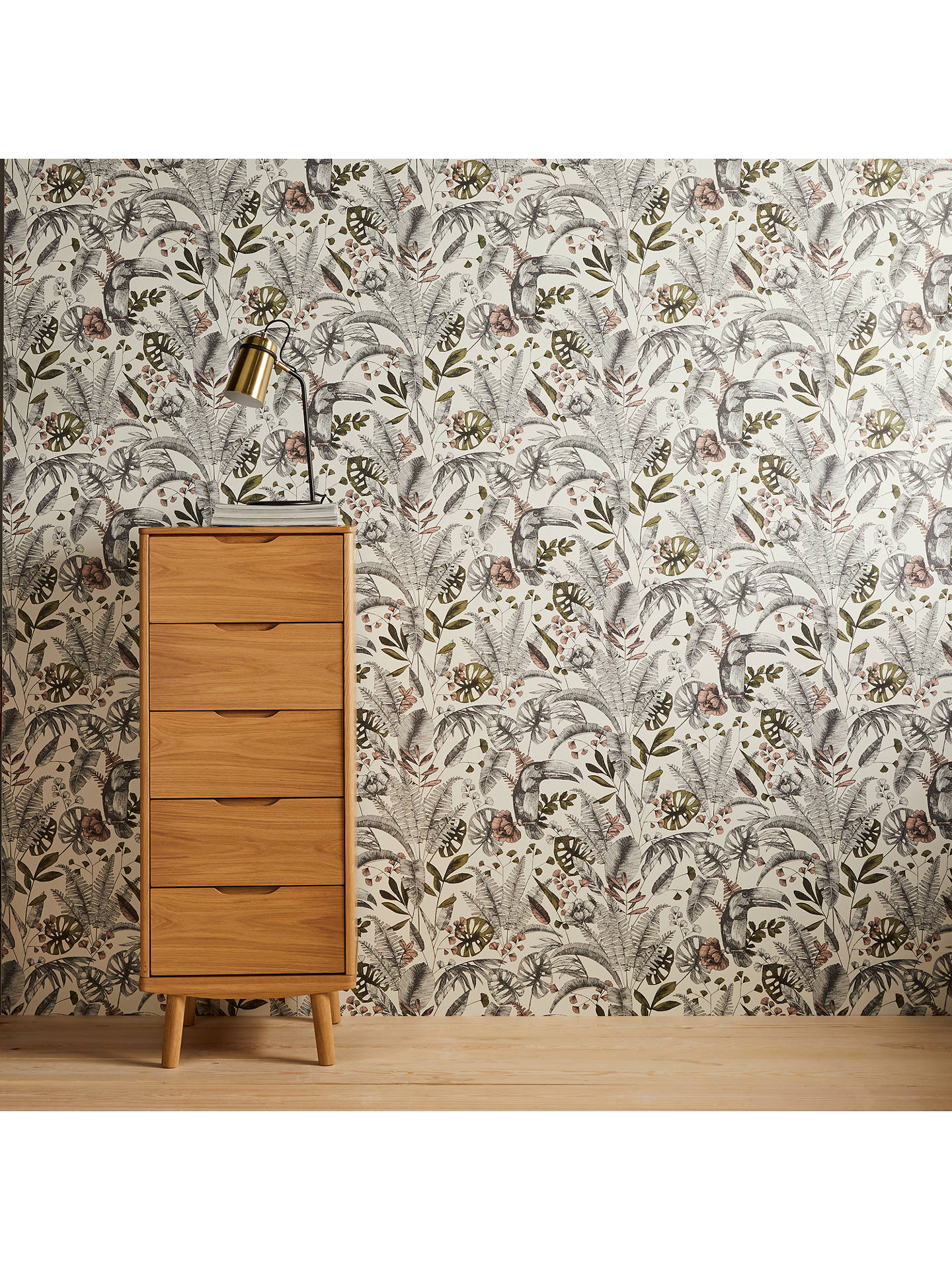 Buy John Lewis & Partners Ipanema Heritage Paste the Wall Wallpaper, Plaster Pink Online at johnlewis.com