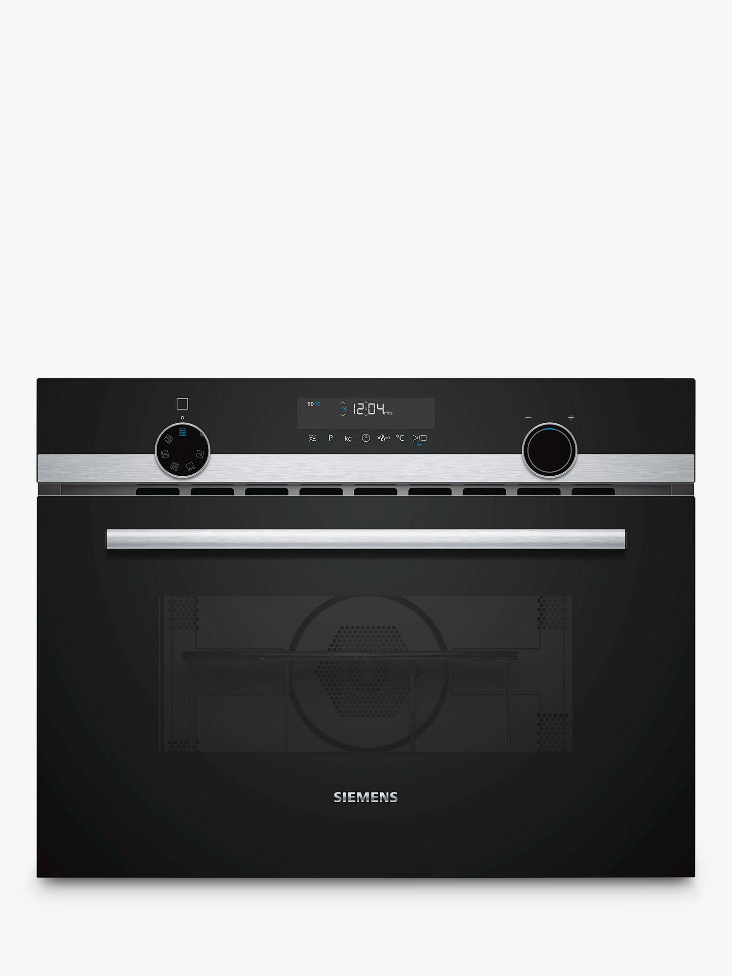 BuySiemens CM585AMS0B Built-in Microwave with Grill, Stainless Steel Online at johnlewis.com