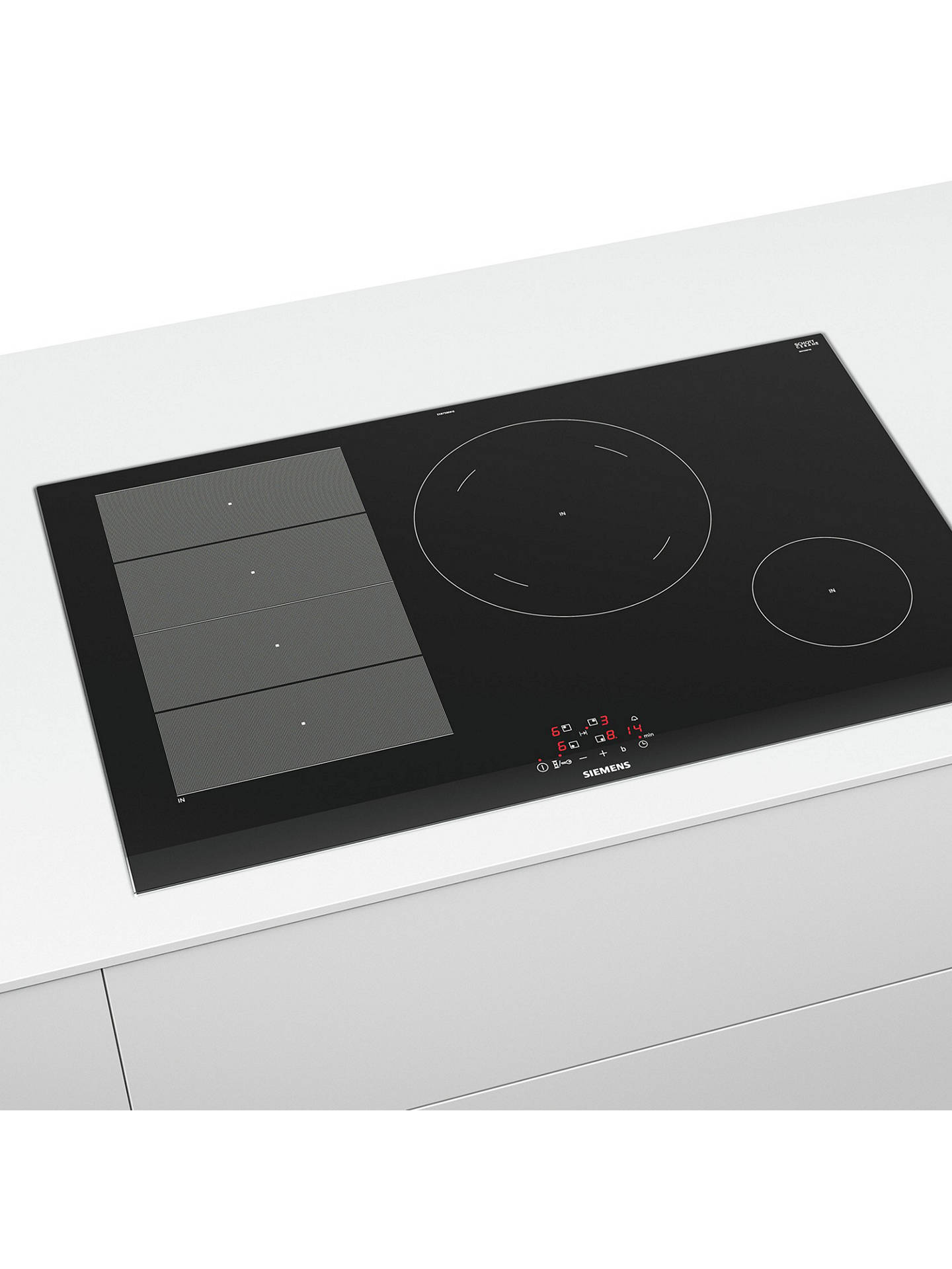 BuySiemens EX875BEB1E Induction Hob, Black Online at johnlewis.com