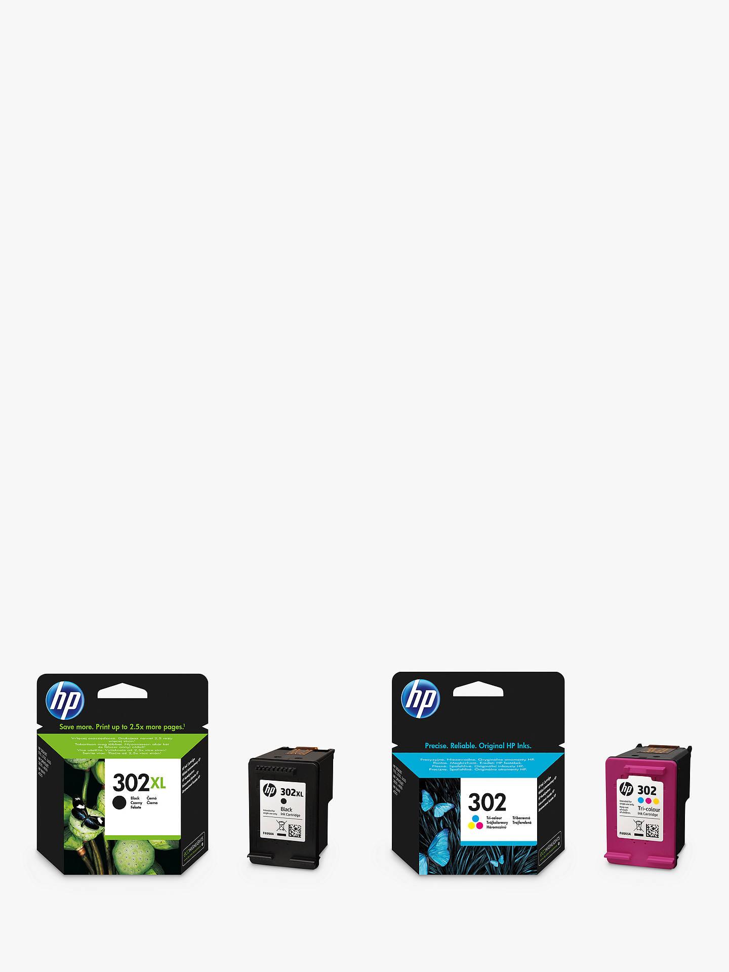 BuyHP 302XL Ink Cartridge Black 302 Tri Colour Multipack