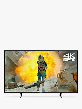 "Panasonic TX-43FX650B LED HDR 4K Ultra HD Smart TV, 43"" with Freeview Play, Black"