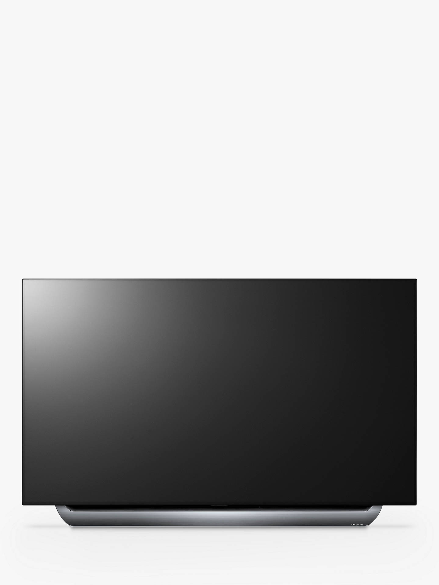 "Buy LG OLED55C8PLA OLED HDR 4K Ultra HD Smart TV, 55"" with Freeview Play/Freesat HD, Dolby Atmos & Streamlined Alpine Stand, Ultra HD Certified, Black & Silver Online at johnlewis.com"