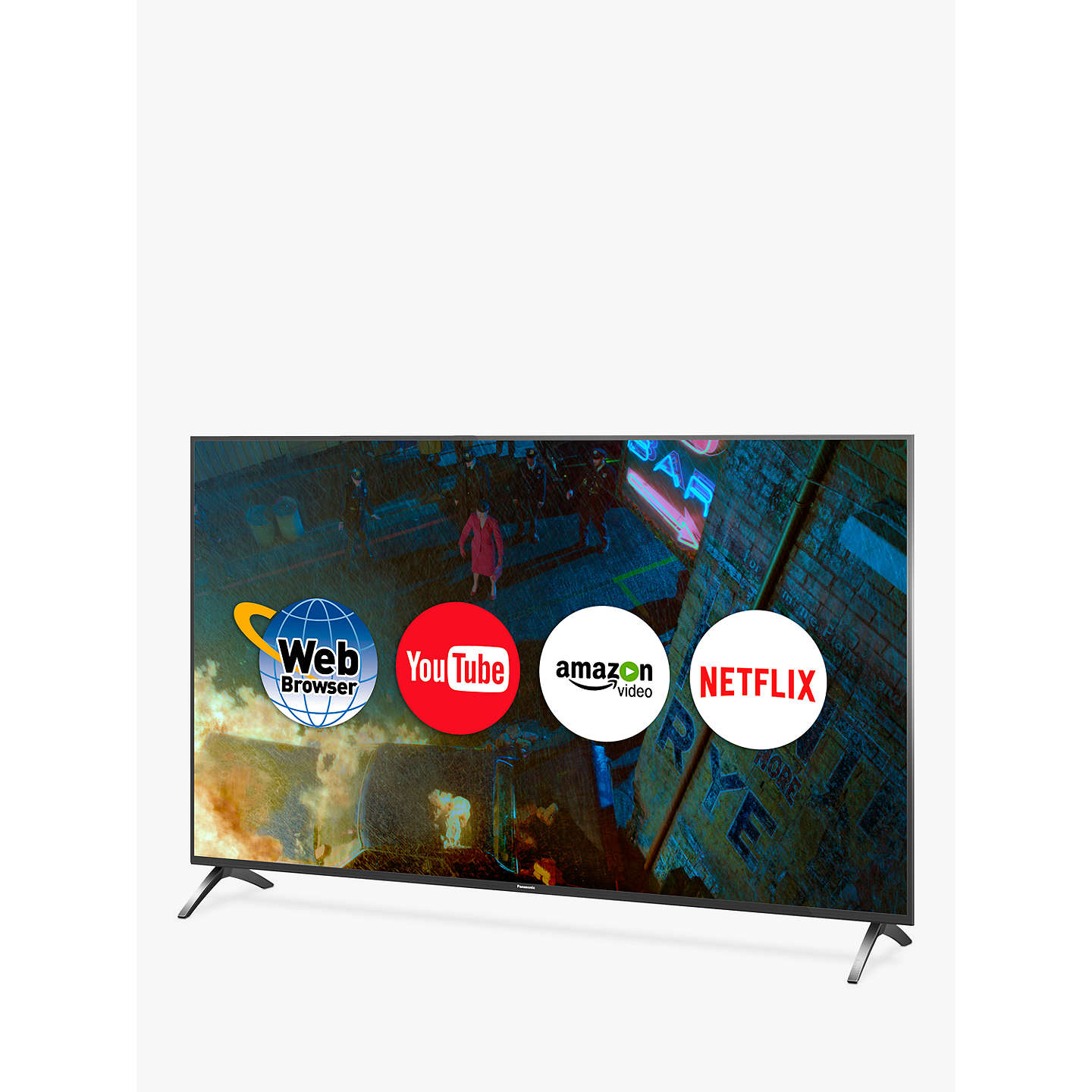 "BuyPanasonic 49FX700B LED HDR 4K Ultra HD Smart TV, 49"" with Freeview Play & Switch Design Adjustable Stand, Gun Metal Online at johnlewis.com"