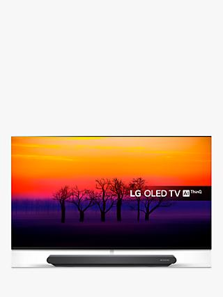 "LG OLED65G8PLA Signature OLED HDR 4K Ultra HD Smart TV, 65"" with Freeview Play/Freesat HD, One-Glass Design & Dolby Atmos Sound Base Unit, Ultra HD Certified, Black"