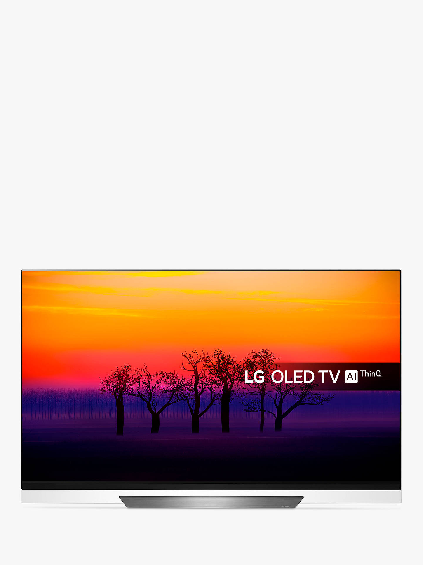 "BuyLG OLED55E8PLA OLED HDR 4K Ultra HD Smart TV, 55"" with Freeview Play/Freesat HD, Picture-On-Glass Design & Dolby Atmos, Black Online at johnlewis.com"