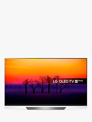 "LG OLED55E8PLA OLED HDR 4K Ultra HD Smart TV, 55"" with Freeview Play/Freesat HD, Picture-On-Glass Design & Dolby Atmos, Ultra HD Certified, Black"