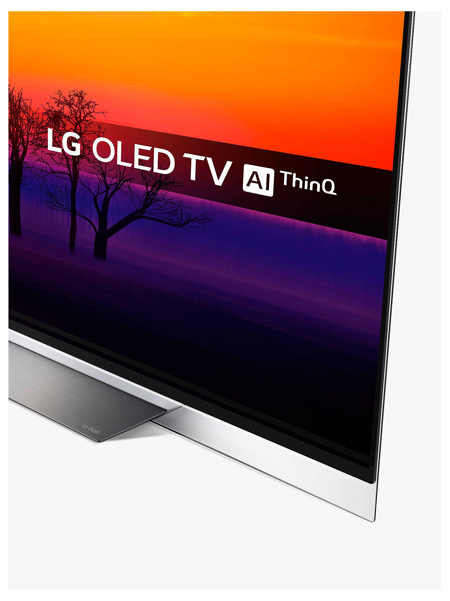 "BuyLG OLED65E8PLA OLED HDR 4K Ultra HD Smart TV, 65"" with Freeview Play/Freesat HD, Picture-On-Glass Design & Dolby Atmos, Ultra HD Certified, Black Online at johnlewis.com"